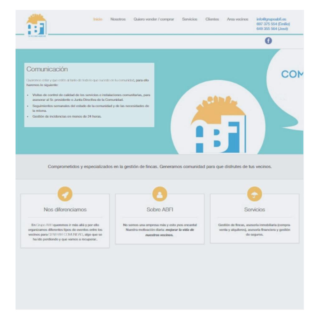 Grupo ABFI |  Inmobiliaria y Gestión de Fincas